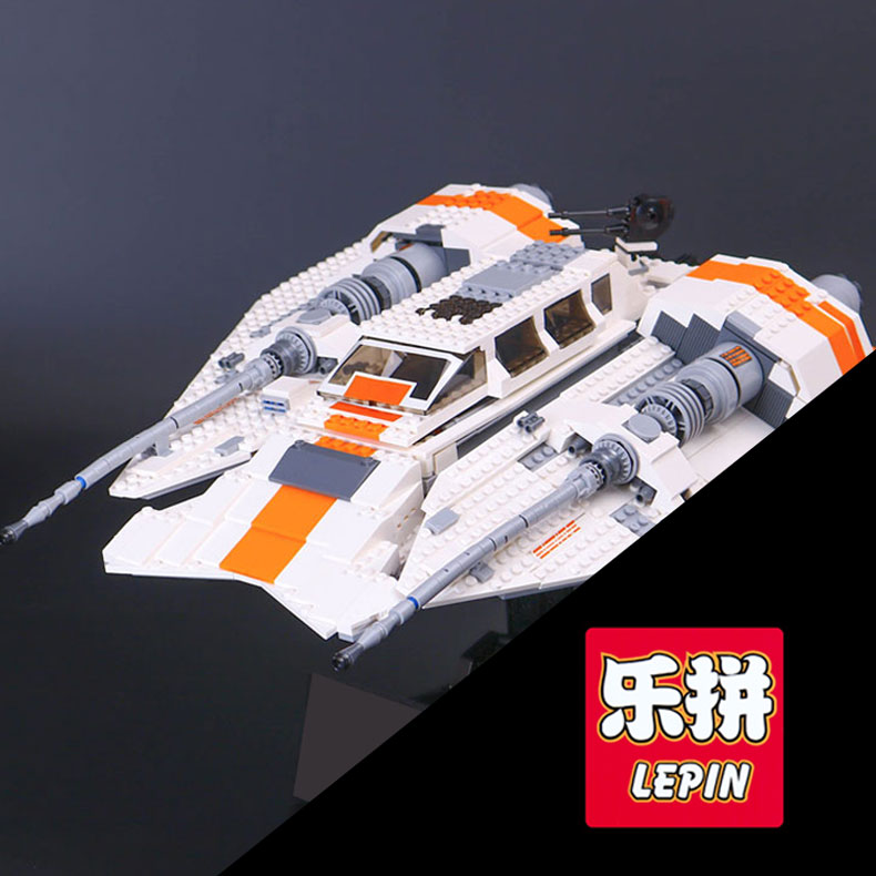 Lepin 05084 1457Pcs Star Series The Snowspeeder Set Children Educational Building Blocks Bricks War Toy Model 10129 for gifts star space war series the rebel snowspeeder set educational building blocks bricks boy toys model gifts compatible lepins 10129
