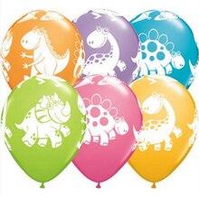 10 шт. 12 дюймов вечерние воздушные шары в виде динозавра, вечерние шары в стиле джунглей, латексные шары, украшения для дня рождения, Детские праздничные шары