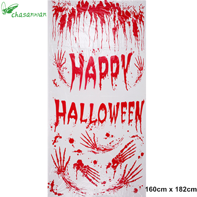 2017 hot happy halloween horror bloody mural party carnival masquerade stage layout door cover photo prop halloween decorationq - Bloody Halloween Decorations