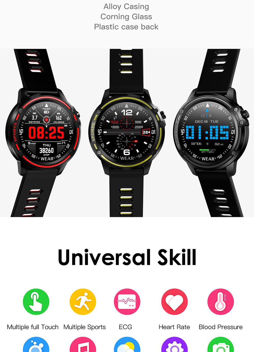 Reloj inteligente L8 IP68 para Hombre, Reloj inteligente resistente al agua con ECG presión arterial mediante PPG, relojes deportivos para fitness 3