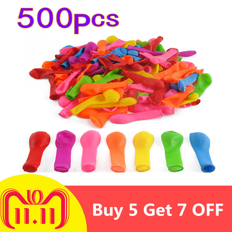 купить 500Pcs Funny Water Balloons Toys Magic Summer Beach Party Outdoor Filling Water Balloon Bombs Toy For Kids Adult Children по цене 194.47 рублей