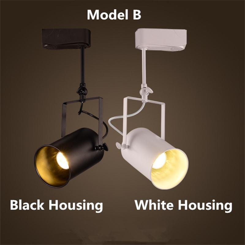 Us 27 88 59 Off Loft Vintage Led Track Lights Wrought Iron Ceiling Lamps Clothing Bar Cob Spotlight American Style Rod Spot Lighting In