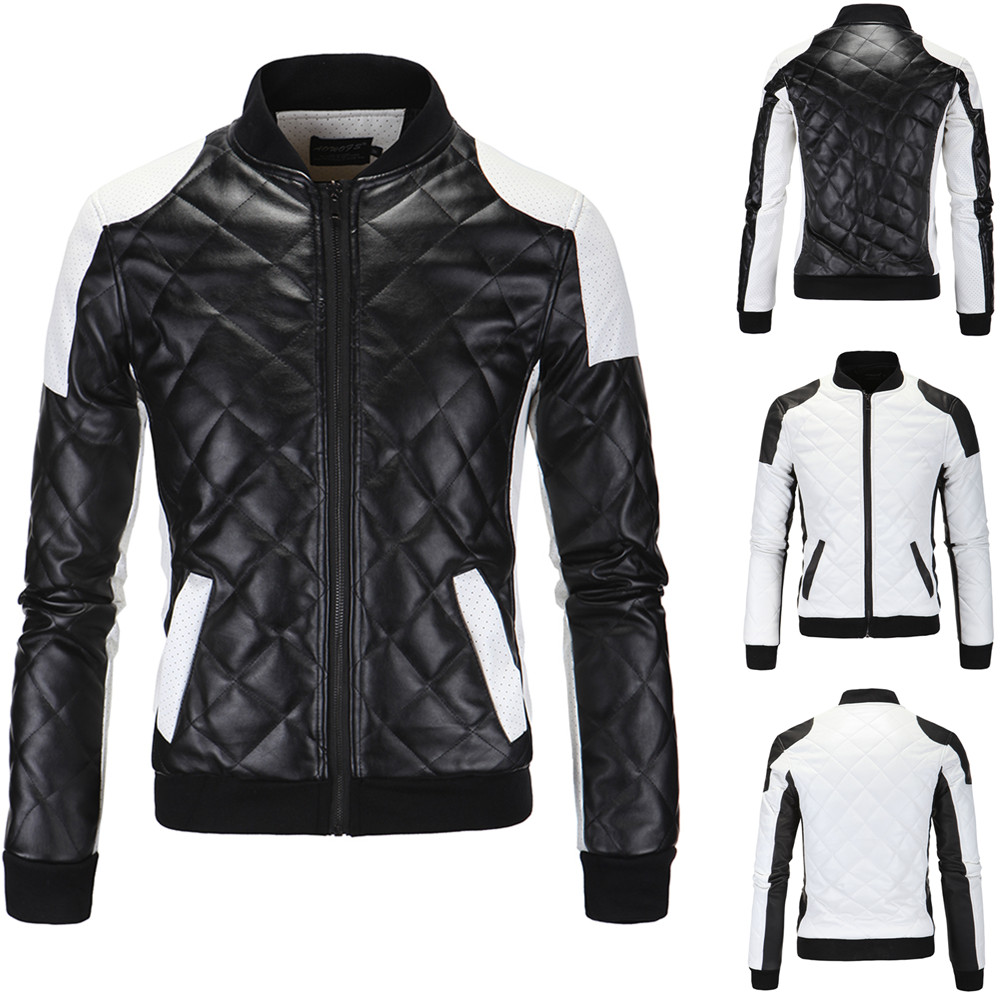 e8b527a72 US $32.77 51% OFF|Jacket Men Embroidery Baseball Jackets Pu Leather Coats  Slim Fit College Luxury Fleece Pilot Leather Jackets Casaco Masculino-in ...
