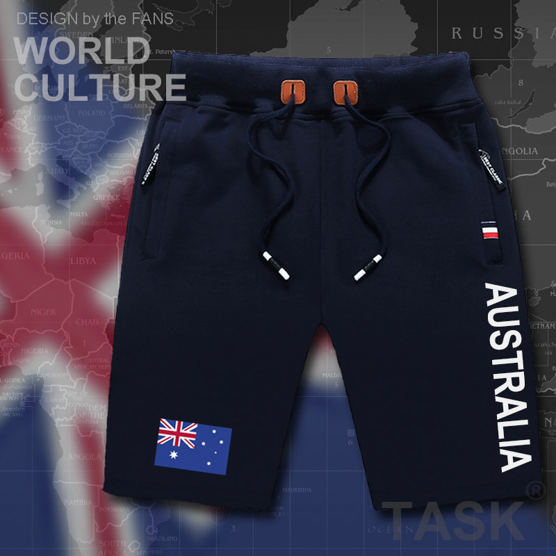 Commonwealth Of Australia Mens Shorts Beach New Men's Board Shorts Flag Workout Zipper Pocket Sweat 2017 New AUS Australian Tee