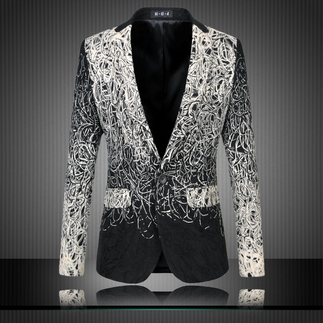 Aliexpress.com : Buy Mens Floral Blazers Designs Trendy Suits Club ...
