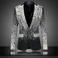 Mens blazers florais projetos na moda ternos clube vintage slim fit blazers flor impressão fantasia vestido de baile ternos terno masculino