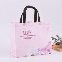 1000pcs/lot custom design reusable shopping bag big non woven tote bag