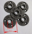 30PCS/LOT  Cast iron Industrial pipes flange wall base pipe support base (-DN20-3/4''Pipe  Hole ID:25MM )