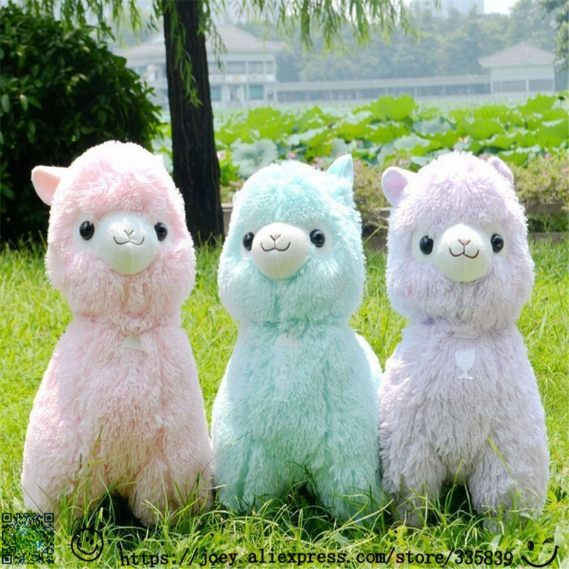hot sale 1pc 45cm japanese alpacasso soft toys doll giant stuffed animals toy 5 colors kawaii. Black Bedroom Furniture Sets. Home Design Ideas