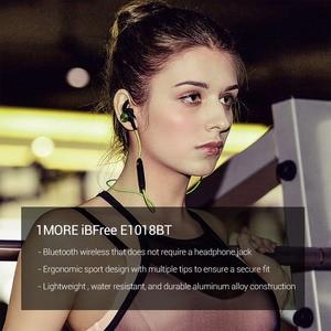 Image 4 - 1 więcej iBFree bezprzewodowy zestaw słuchawkowy Bluetooth 4.2 IPX6 wodoodporny zestaw słuchawkowy bluetooth v4.2 słuchawki douszne z mikrofonem E1018BT