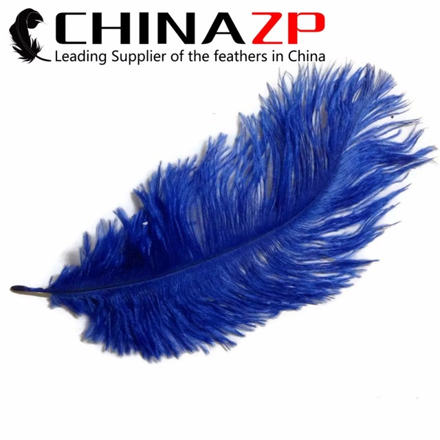 CHINAZP Factory Size 30-35cm(12-14inch) Dyed Royal Blue Fantastic DIY Decoration Ostrich Feathers