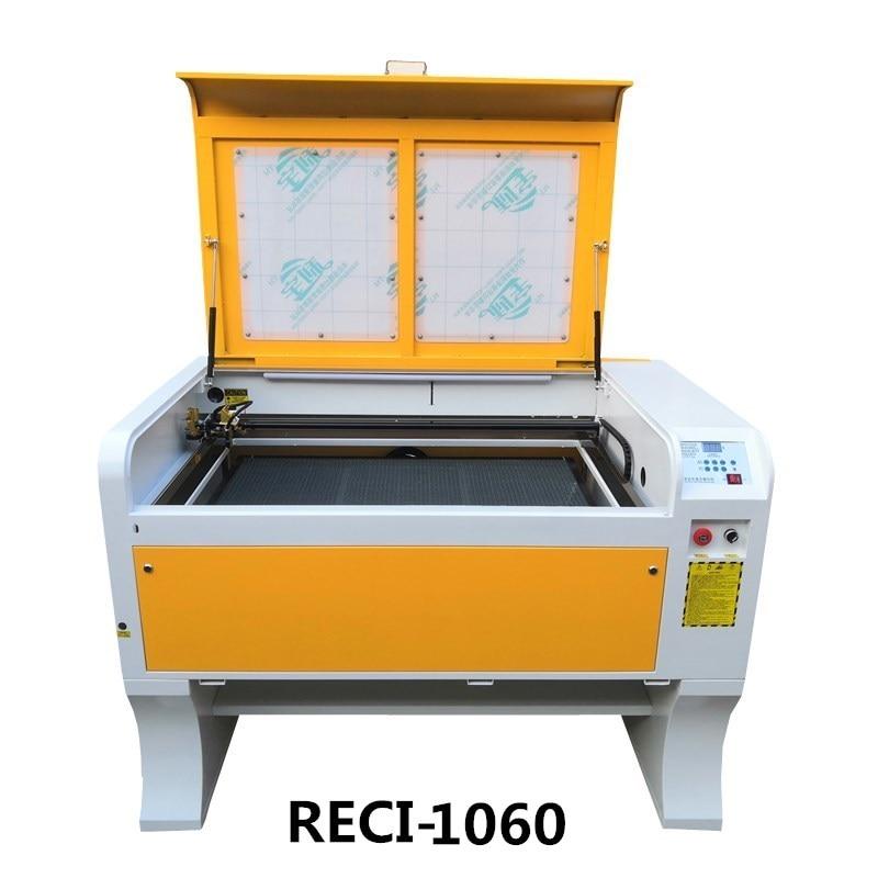 Grabador láser de corte 1060/1060 Reci 100 w de potencia Ruida 6442 soporte Idioma Ruso 110 V/220 V Co2 máquina de grabado láser
