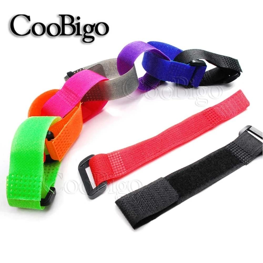 10pcs Fish Fastening Tape Nylon Fastener Hook Loop Tie Cord Reusable Strap Z3P8