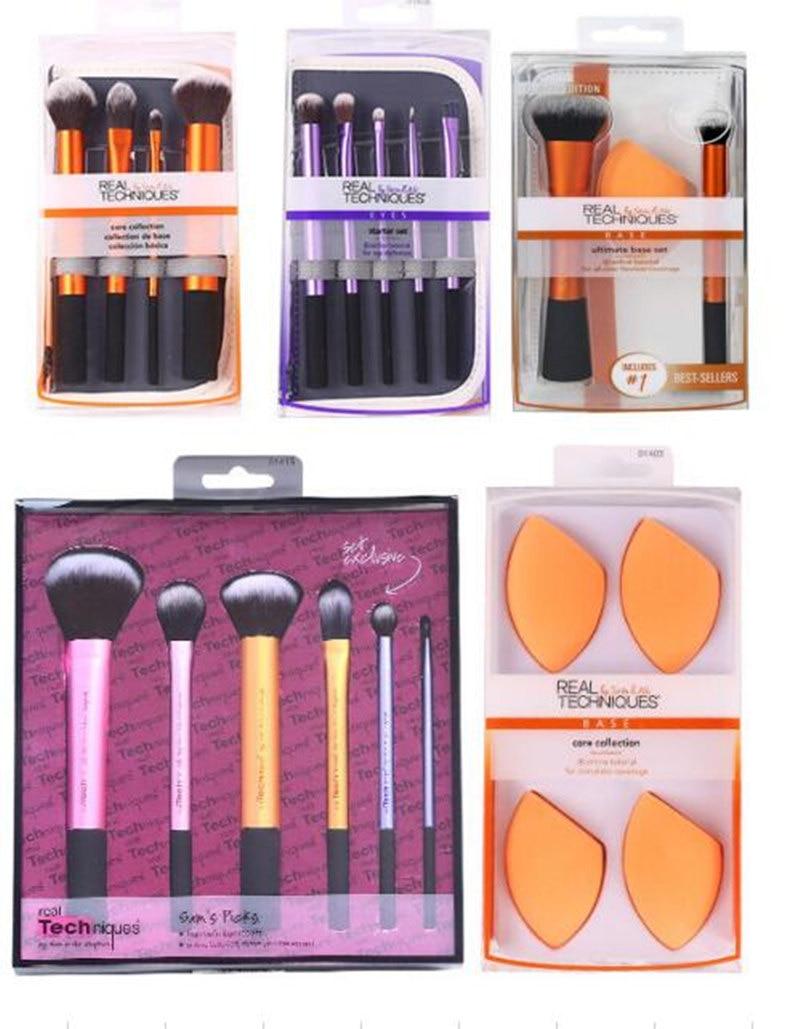 Make Up Brushs Makeup Sponge Maquillage Real Technique Makeup Brushs Powder Loose Box Belt Foundation Brush  Free Shipping