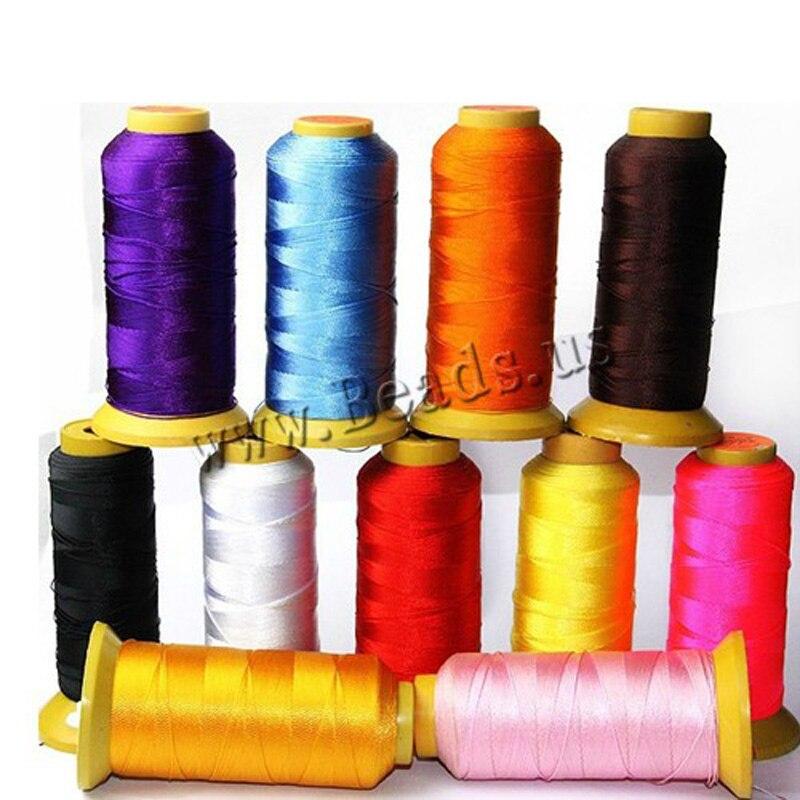Шелковая нить для бисера, Пул 750 м, жемчужный шнур, 16 цветов, 0,2-0,3 мм, нить для изготовления ювелирных украшений, шелковая нить для костюмов