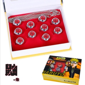 Японское аниме Наруто фигурку Наруто Косплей Акай акасуки член кольцо Учиха Итачи рождественские подарки 10 шт./компл.