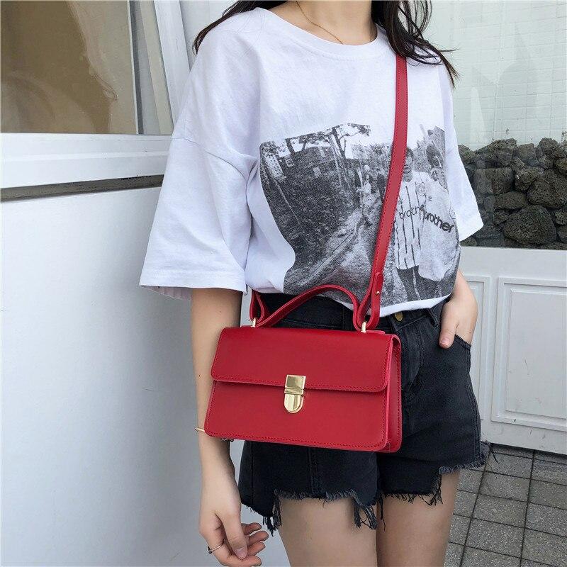 Damentaschen Radient Vintage Frauen Schulter Tasche Kleine Pu Leder Umhängetasche Für Damen Luxus Designer Handtaschen Und Geldbörsen Rot/schwarz Bolsa Feminin Gepäck & Taschen