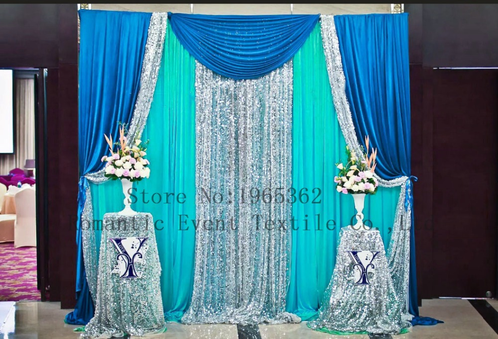 Buy 3x3m hot sale wedding backdrop for Background curtain decoration