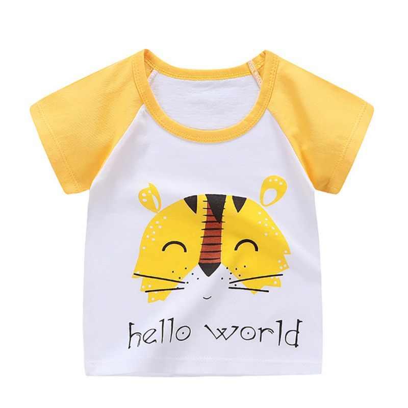 קיץ חולצה הדפסת שרוול קצר תינוק בנות חולצות כותנה ילדי חולצה O-צוואר טי חולצות ילד בד