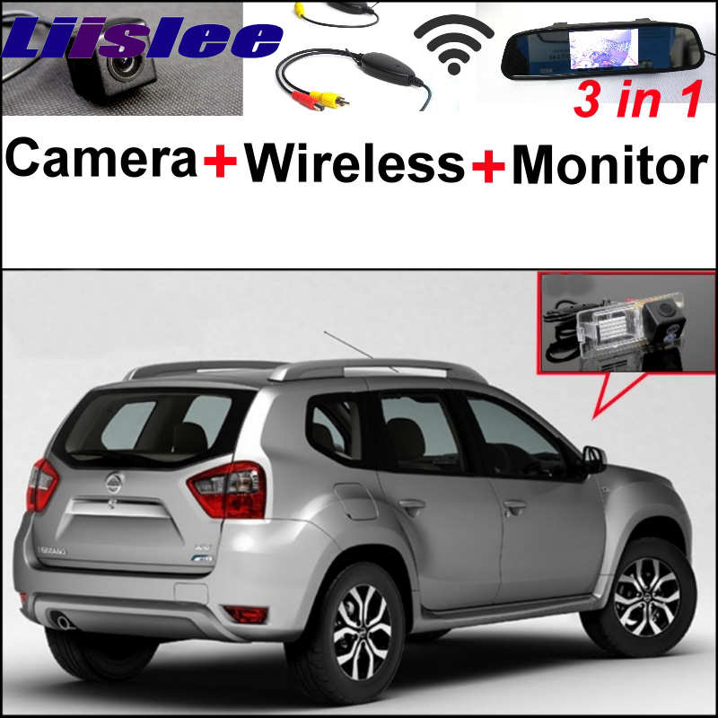 3 in1 Parking System For Nissan Terrano + Special Rear View Wifi Camera + Wireless Receiver + Mirror Monitor Easy DIY Back Up special rear view wifi camera wireless receiver mirror monitor easy diy back up 3 in1 parking system for nissan terrano