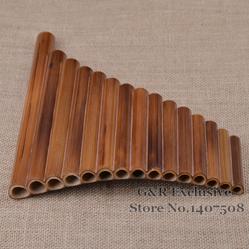 Professional pan fleyta 15 boru elementi Woodwind Flauta G açar - Musiqi alətləri - Fotoqrafiya 4
