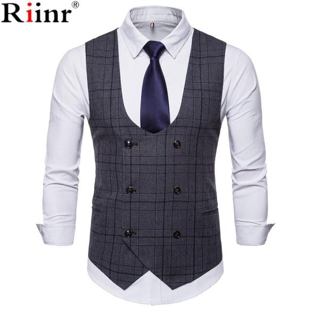 Riinr 2018 New Brand Men S Business Casual Vest High Quality Men S