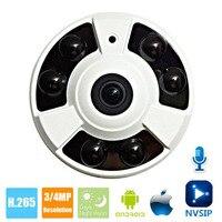 HD 2MP IP Camera POE Onvif Fisheye Panorama 5MP Lens IR CUT Night Vision HD Security CCTV Camera 4MP 360 Degree View P2P NVSIP