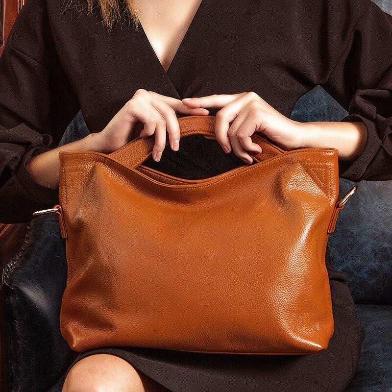 Original Brand PASTE Women Messenger Bag Soft Real Leather Bucket Bag Causal Female Tote Bag High Quality Cowhide Handbag