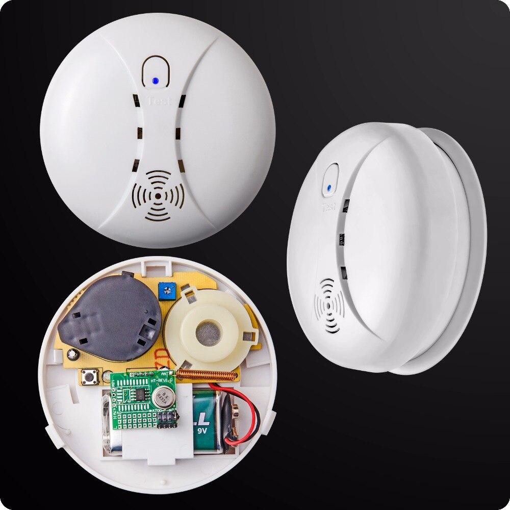 Casa Intelligente senza fili Fotoelettrico Sensibile del Rivelatore di Fumo Del Sensore Per La Connessione Wifi GSM Wireless Home Security Sistema di Allarme