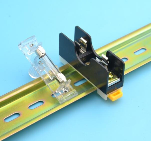 2 шт. 35 мм Дин-рейку держатель предохранителя 6х30 мм стекло с одной направляющей блок предохранителей с 10а предохранитель