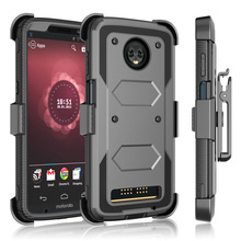 For Motorola Moto Z3 / Moto Z3 Play Case Heavy Duty Hybrid Rugged Case With Belt Clip Holster Stand Shockproof Protective Cover waterproof rugged mobile device protection holster case with clip