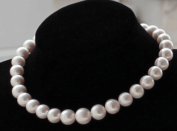 """Beautiful Huge 18""""9-10MM SOUTH SEA WHITE ROUND PEARL NECKLACE GOOD LUSTER AA+ Yellow Clasp"""