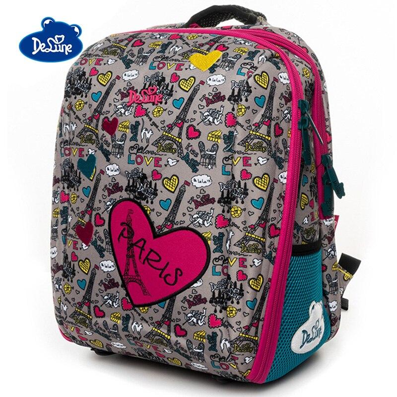 Delune Love Owl Pattern School Bags For Girls Boys Cartoon Large Backpacks Children Orthopedic Backpack Primary