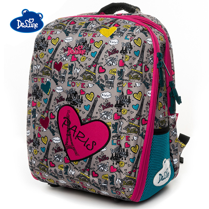 Delune Love Owl Pattern School Bags For Girls Boys Cartoon Large Backpacks Children Orthopedic Backpack Primary Mochila Infantil