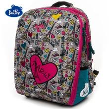 Delune Love Owl Pattern School Bags For Girls Boys Cartoon Large Backpacks Children Orthopedic Backpack Primary Mochila Infantil