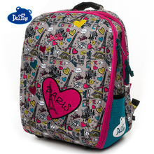купить Delune Love Owl Pattern School Bags For Girls Boys Cartoon Large Backpacks Children Orthopedic Backpack Primary Mochila Infantil дешево