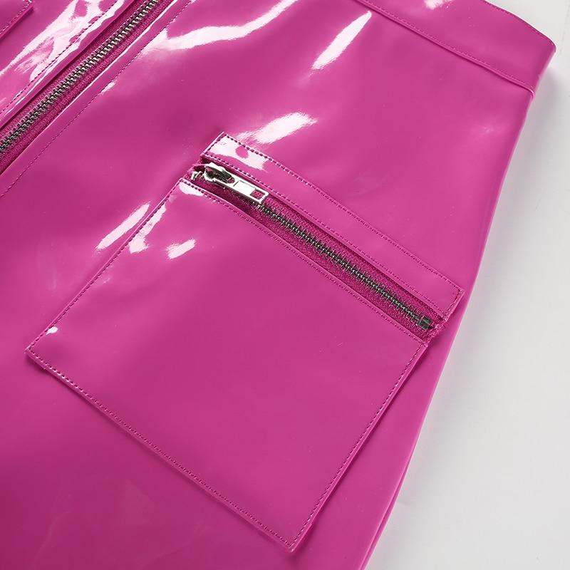12Sweetown Black Korean Style Skirts Womens White Street Style A Line Skirt Summer 2018 Purple High Waist Steampunk Short Skirt
