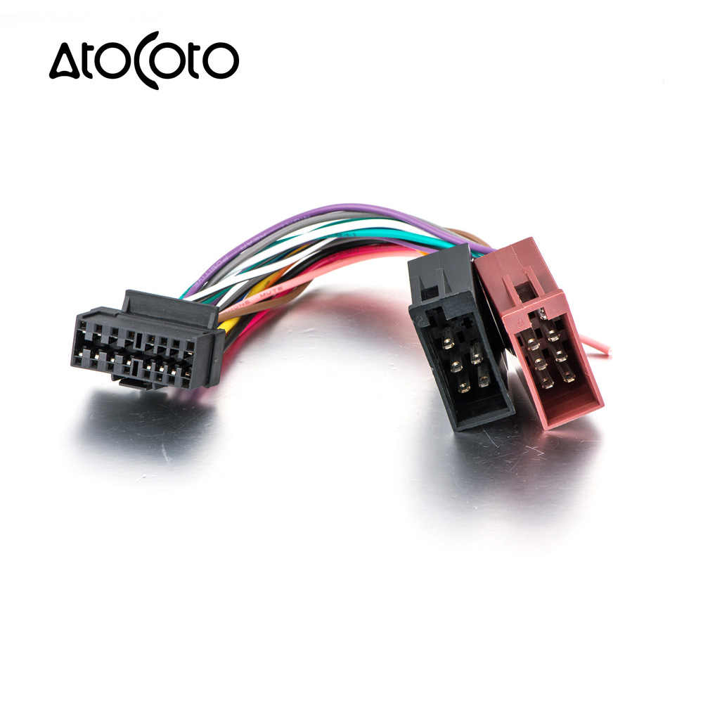 hight resolution of iso standard plug wiring harness for sony cdx mex dsx wx car cd radio audio stereo