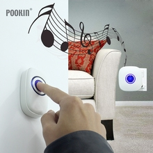 Waterproof Wireless Doorbell Long Remote Control Digital Doorbells 38 Ring Doorbell EU/US Plug-in Home Smart Alarm Door Ring