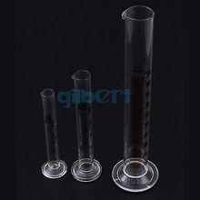 50 мл лабораторный стеклянный Градуированный измерительный цилиндр 110 мм Высота с носиком стеклянная посуда