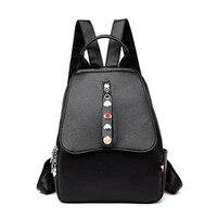 Genuine Leather Luxury Backpack Women Fashion Travel Backpacks School Bag New Laptop Backpack