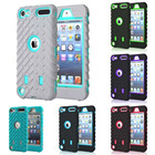 UTOPER Heavy Duty Case Coque For apple ipod Touch 5 6 Case Tire Style Layer Silicone & Hard Plastic For iPod Touch 5 6 Cover