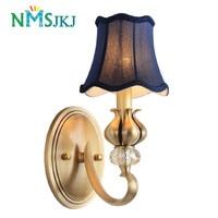 American country full bronze atmosphere living room European style bedroom wall lamp study aisle headboard