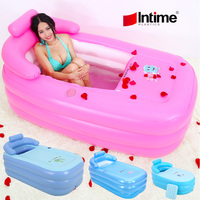 Intime Inflatable bathtub home style thicken PVC bath adult tub Swimming Pool Eco friendly PVC Portable Children Bath Tub Kids