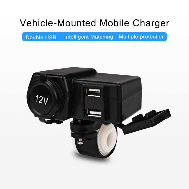 Herorider 12V 24V Waterproof Car Boat Motorcycle Dual USB Charger LED Voltmeter Cigarette Lighter Socket For Harley For Suzuki