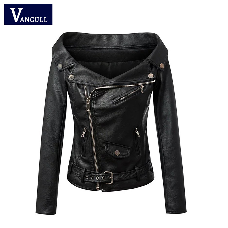 Woman Off shoulder faux leather jacket women motorcycle jacket 2016 Spring autumn outerwear coats Short zipper basic jackets 2016 soild women flip flops for summer outside slipper with cheap price and high quality for surprise gift xf 090