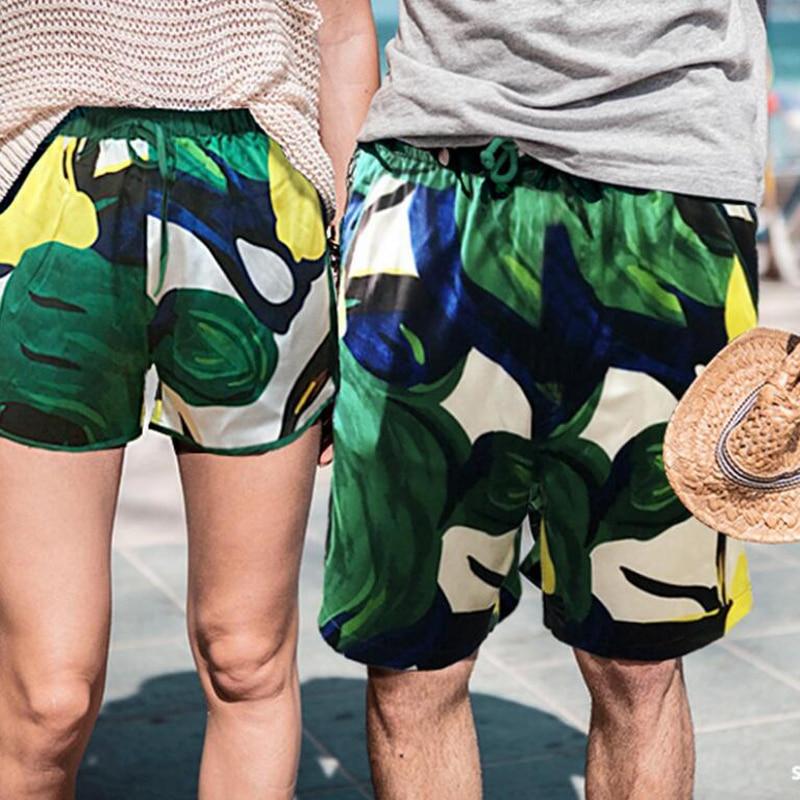 100 soie Homme pantalon marque 100% soie natation Shorts été plage impression Shorts pantalon respirant maillots de bain hommes court Sport Homme - 4