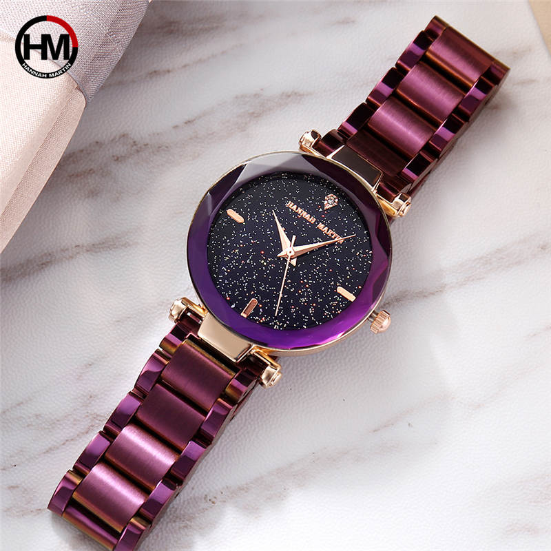 Luxury Fashion Ladies Watches Rose Gold Women Watches Elegant Minimalism Rhinestone Purple Casual Black Female Waterproof Clock caino fashion luxury ladies watch rose gold women watches elegant rhinestone casual waterproof clock female relogio feminino