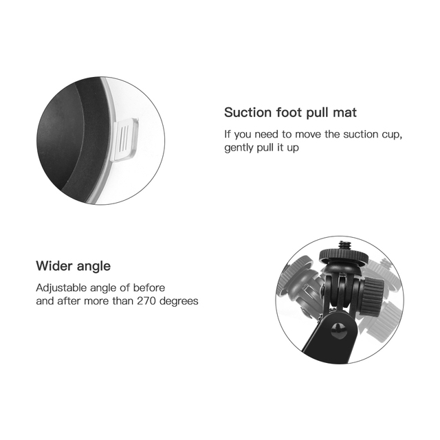 SHOOT Mini Action Camera Suction Cup Mount Window Glass Sucker Accessory