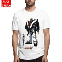 Cartoon t shirt For Male Gundam Wing Deathscythe Tee Graphic T-Shirt 100% Cotton Big Size Homme T Shirt
